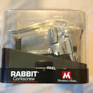 Members Mark rabbit cork screw wine bottle opener